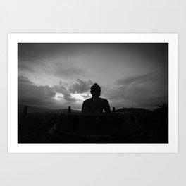 Namaste | Indonesia | Borobudur travel Art Print