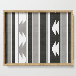 Province in Black and White Serving Tray
