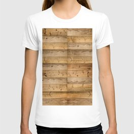 Wood Planks Dark T-shirt