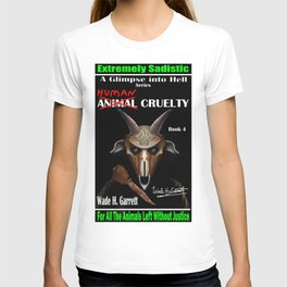 """""""Human Cruelty"""" book cover art with signature T-shirt"""