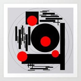 Optical Red Art Print