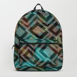 Black and White Squares Pattern 05 Backpack