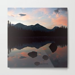 Sunrise over the Three Sisters, OR Metal Print