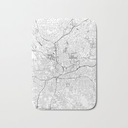 Atlanta White Map Bath Mat