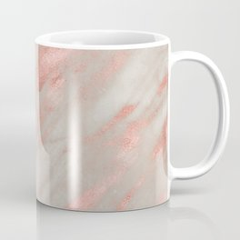 Marble Rose Gold White Marble Foil Shimmer Coffee Mug