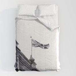 London Skies Watercolour Travel Sketch Comforters