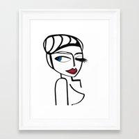megan lara Framed Art Prints featuring Lara by Kalex Art