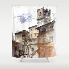 Cortona, Italy Shower Curtain