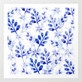 Watercolor Floral VVII Art Print