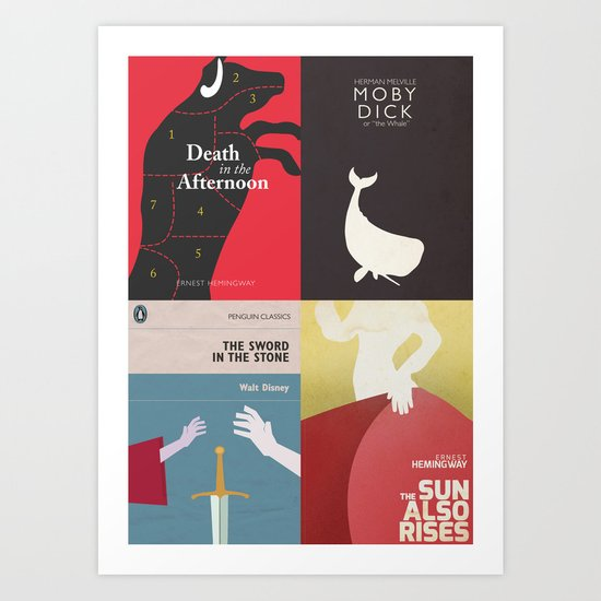 Penguin Book Covers Poster ~ Famous book covers posters in my shop old books