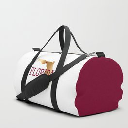Florida Gold and Garnet with State Capital Typography Duffle Bag
