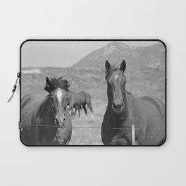 Horses Staring Laptop Sleeve