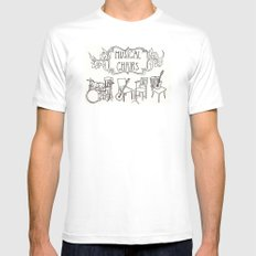 Musical Chairs White MEDIUM Mens Fitted Tee