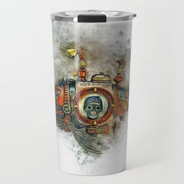 Steampunk Fish Travel Mug