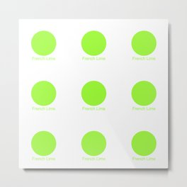 French Lime Metal Print