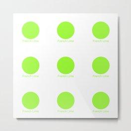 French Lime Metal Print