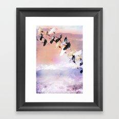 Japanese cranes Framed Art Print