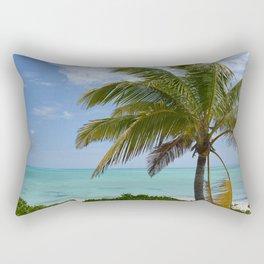 Tropical Paradise With Palm Rectangular Pillow
