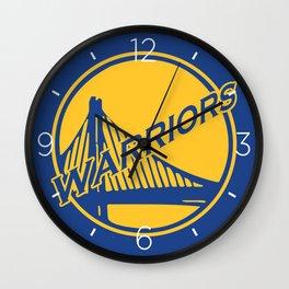 Golden State blue basketball logo Wall Clock