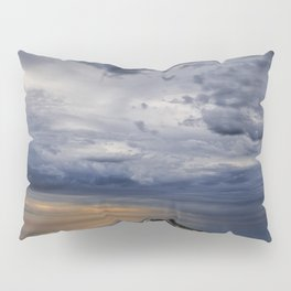 Morning Sunrise with Anchored Wooden Row Boat Pillow Sham