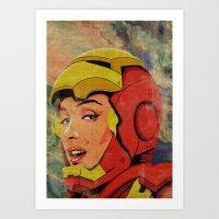 Iron Monroe Art Print