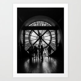 Through the Clock Face Art Print