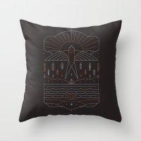 u2 Throw Pillows featuring The Navigator by Rick Crane