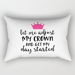 Adjust My Crown Funny Quote Rectangular Pillow