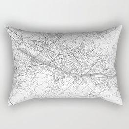 Florence Map Line Rectangular Pillow