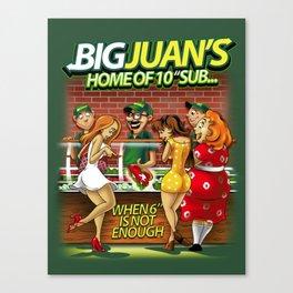 Big Juan's Sub-shop Canvas Print
