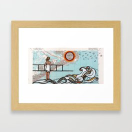 Atlantic City - Mid Century Sun Framed Art Print