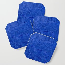 Dark Blue Ombre Burnished Stucco - Faux Finishes - Venetian Plaster Coaster