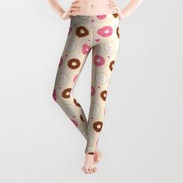 Cute Little Donuts on Cream Leggings