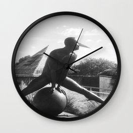 """The """"Wings of the City"""" sculpture exhibit by Mexican Artist Jorge Marín 4 Wall Clock"""