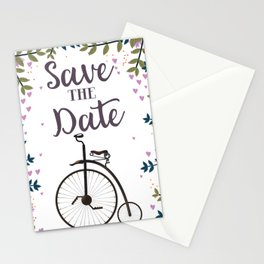 Save the Date Penny Farthing Stationery Cards