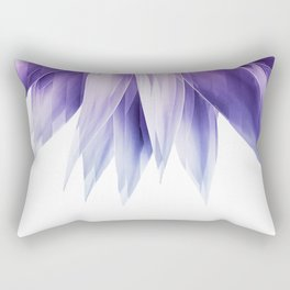 Agave geo fringe - amethyst Rectangular Pillow