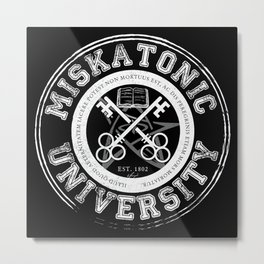 Miskatonic University Emblem (Dark version) Metal Print