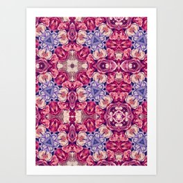 berry floral Art Print
