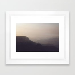 Smoky Hazy Sunset in the Grand Canyon Framed Art Print