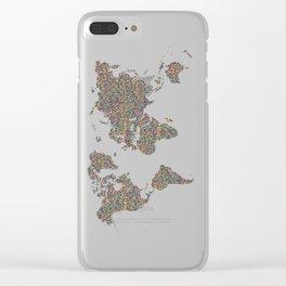 Slum World Clear iPhone Case