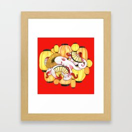 Geisha Octopus Framed Art Print
