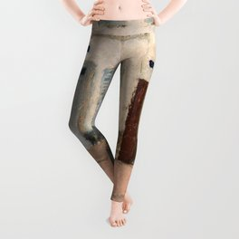 12,000pixel-500dpi - Pierre Bonnard - Two Dogs In A Deserted Street - Digital Remastered Edition Leggings