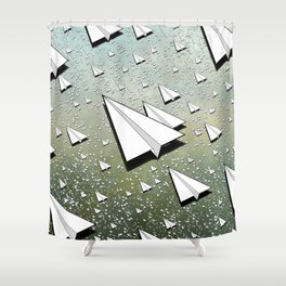 Paper Airplane 111 Shower Curtain