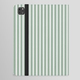Classic Small Green Boot Green French Mattress Ticking Double Stripes iPad Folio Case