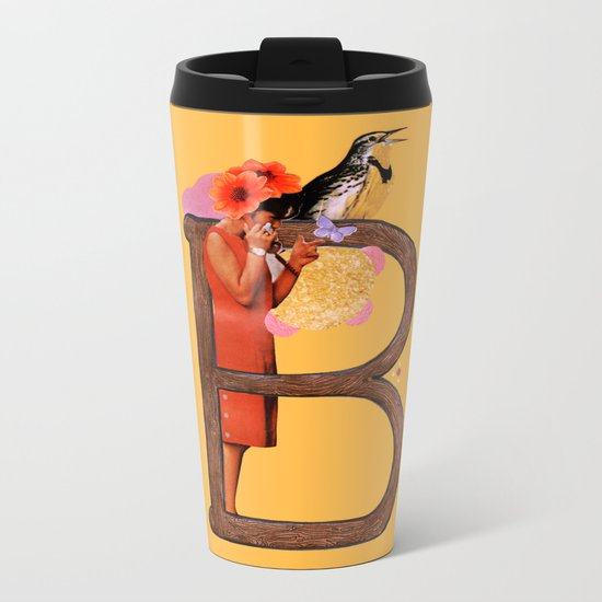"A TO Z - ""B"" Metal Travel Mug"