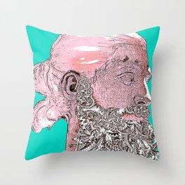 Hipster Nepune - emerald Throw Pillow