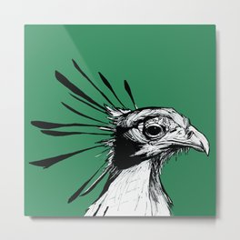 Secretary Bird Metal Print