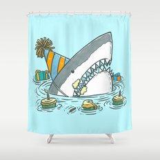 Birthday Shark II Shower Curtain