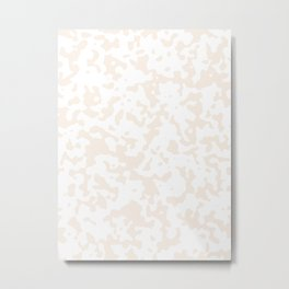 Spots - White and Linen Metal Print