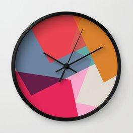 Geometric Abstract 01 Wall Clock